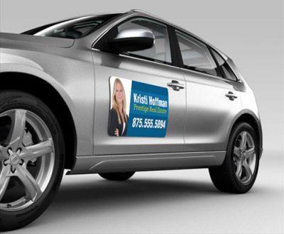 In, cắt decal nam châm từ tính cho xe hơi, ô tô du lịch và taxi
